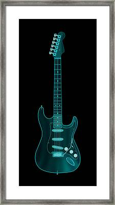 X-ray Electric Guitar Framed Print by Michael Tompsett