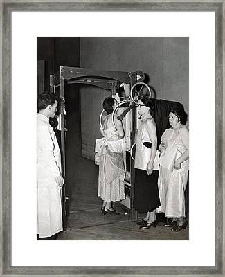 X-rays Look For Tuberculosis Framed Print by Underwood Archives