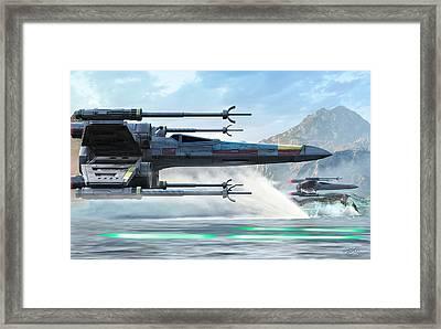 X-wing Full Throttle  Framed Print by Kurt Miller