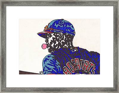 Xander Bogaerts 1  Framed Print by Jeremiah Colley