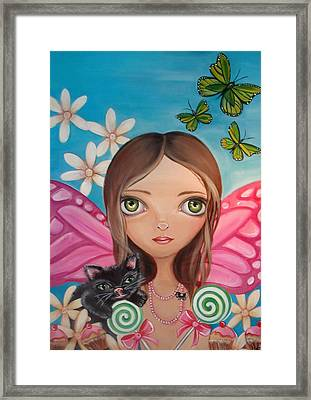 Xenia Fairy Framed Print by Jaz Higgins