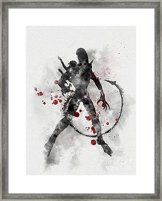 Xenomorph 2nd Edition Framed Print by Rebecca Jenkins