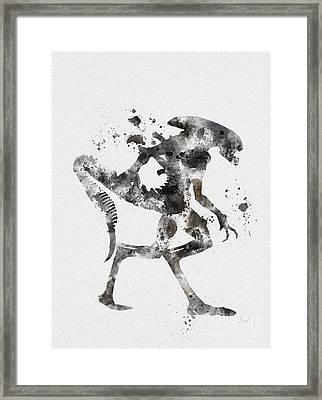 Xenomorph Framed Print by Rebecca Jenkins