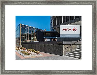 Xerox Tower Entrance Framed Print by Ray Sheley