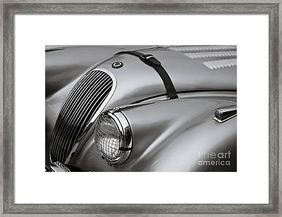 Xk 120 Framed Print by Dennis Hedberg