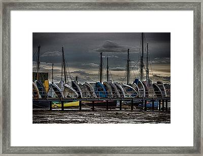 Yacht Club Framed Print by Martin Newman