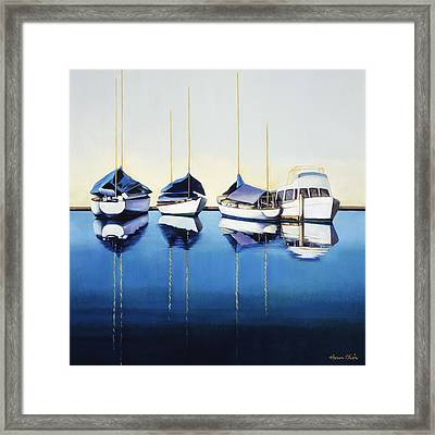 Yacht Harbor Framed Print by Han Choi - Printscapes