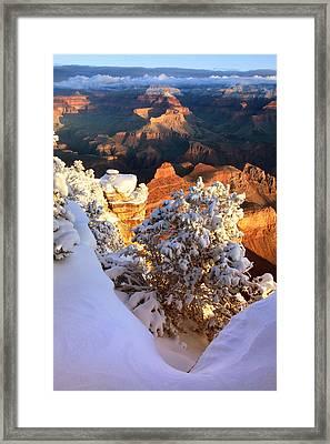 Yaki Point Snowscape Framed Print by Mike Buchheit