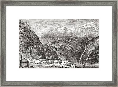 Yale, On The Fraser River, British Framed Print by Vintage Design Pics