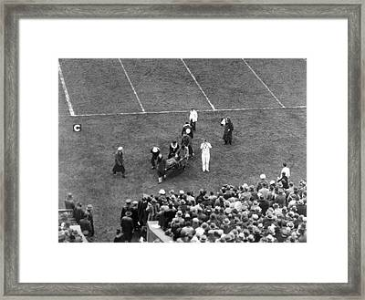 Yale's Albie Booth Injured Framed Print by Underwood Archives