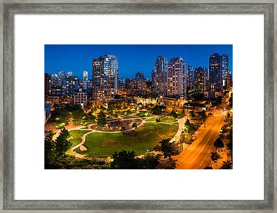 Yaletown In Vancouver Framed Print by Alexis Birkill