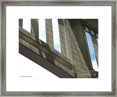 Yankee Stadium Architecture Framed Print by Roxy Riou
