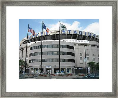 Yankee Stadium - New York Framed Print by Daniel Hagerman