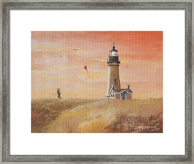 Yaquina Head Lighthouse Framed Print by Jerry McElroy