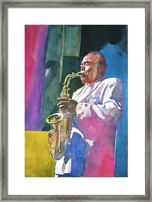 Yardbird Parker Framed Print by David Lloyd Glover