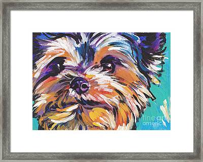 Yay Yorkie  Framed Print by Lea S