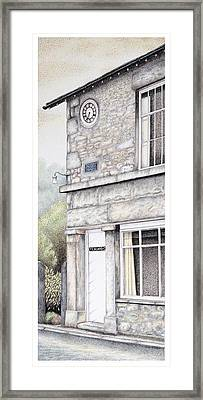 Yealand Old School Clock Framed Print by Sandra Moore