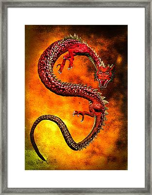 Oriental Chinese Dragon Framed Print by Bob Orsillo