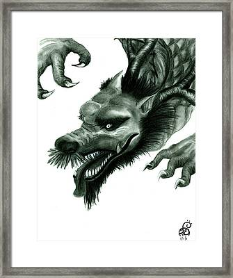 Year Of The Dragon Framed Print by Tiphanie Erickson