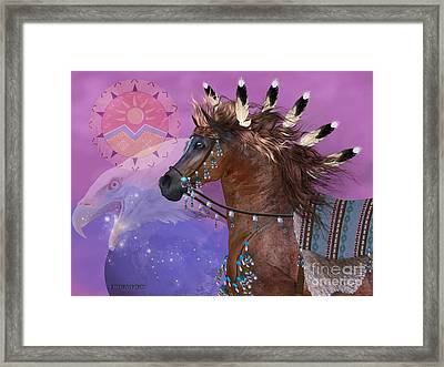 Year Of The Eagle Horse Framed Print by Corey Ford