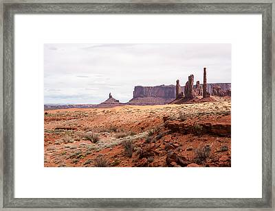 Yei Bi Chei And Totem Pole Formation Framed Print by John Bartelt