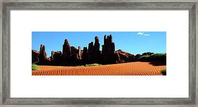 Yei Bi Chei Panorama Framed Print by George Buxbaum