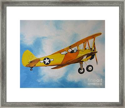 Yellow Airplane - Detail Framed Print by Jindra Noewi