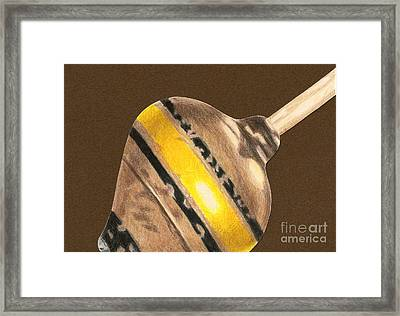 Yellow And Black Top Framed Print by Glenda Zuckerman