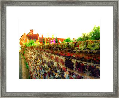 Yellow Brick Framed Print by Jan W Faul
