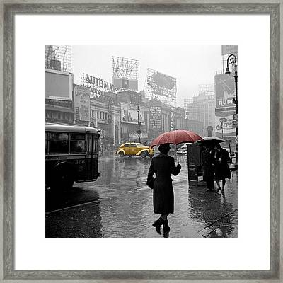 Yellow Cabs New York 2 Framed Print by Andrew Fare