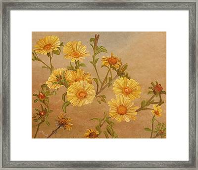 Yellow Daisies Framed Print by Angeles M Pomata