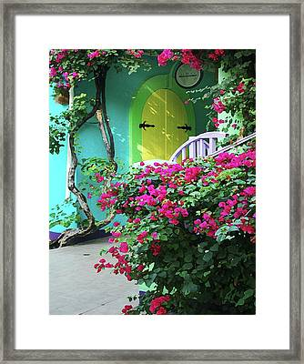Yellow Door Framed Print by Michael Thomas