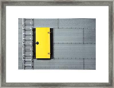 Yellow Door Framed Print by Todd Klassy