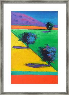 Yellow Field Framed Print by Paul Powis