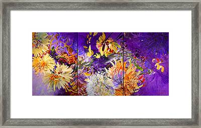 Yellow Flowers Framed Print by Georg Douglas