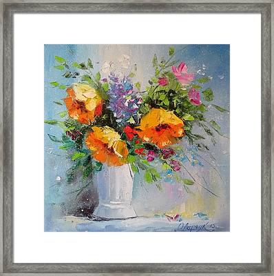 Yellow Flowers Framed Print by Olha Darchuk