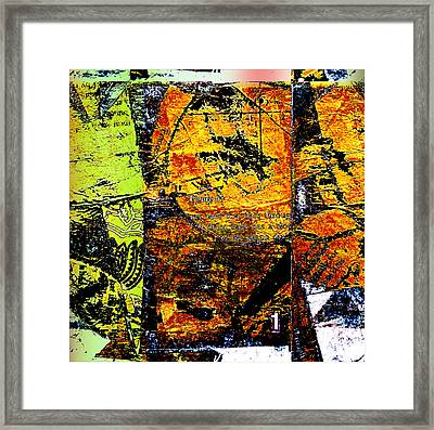 Yellow Halftone Variance Framed Print by KA Davis