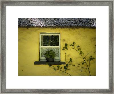 Yellow House County Clare Ireland Framed Print by Teresa Mucha