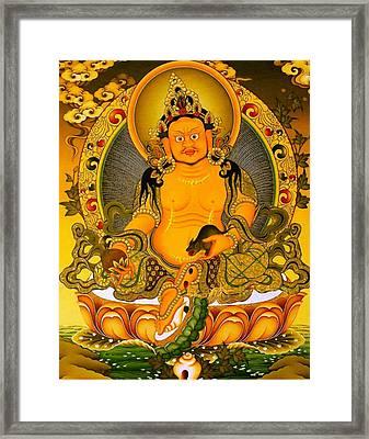 Yellow Jambhala 3 Framed Print by Lanjee Chee