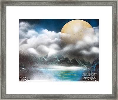 Yellow Moon Framed Print by Greg Moores