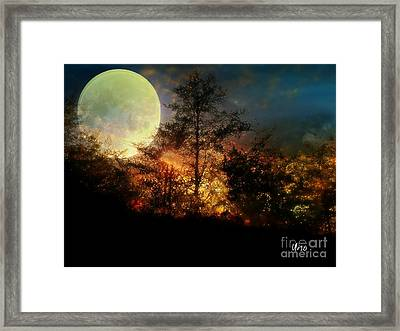 Yellow Moon Framed Print by Maria Urso
