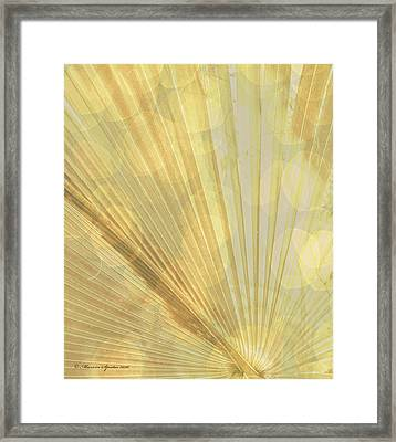 Yellow Palm Frond Lh Framed Print by Marvin Spates