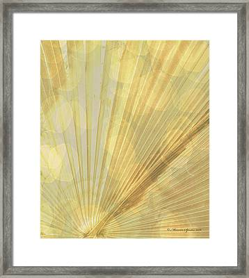 Yellow Palm Frond Rh Framed Print by Marvin Spates