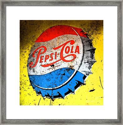 Yellow Pepsi Pop Art Framed Print by Gary Everson