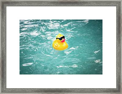 Yellow Rubber Duck Framed Print by Rich Franco