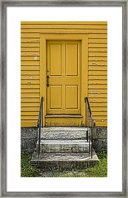 Yellow Shaker Door Framed Print by Stephen Stookey