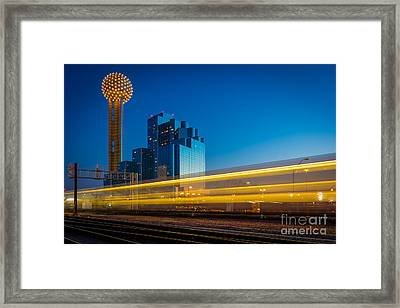 Yellow Trail Framed Print by Inge Johnsson
