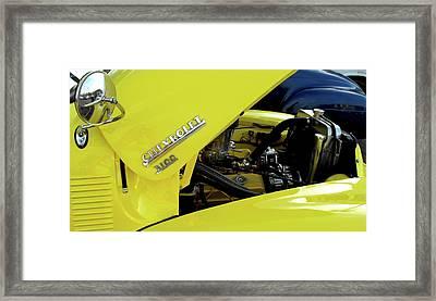 Yellow Truck Framed Print by Kristie  Bonnewell