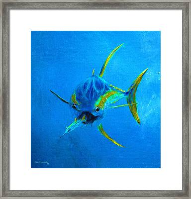 Yellowfin Tuna Three Framed Print by Ken Figurski