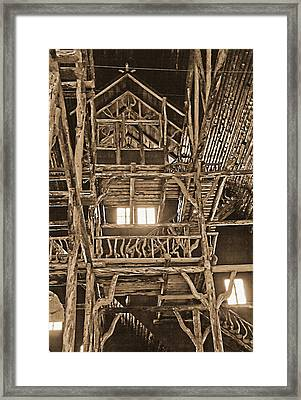 Yellowstone - Old Faithful Inn 3 Framed Print by Steve Ohlsen